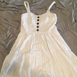 White Button Up Skater Dress